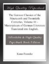 The German Classics of the Nineteenth and Twentieth Centuries, Volume 01