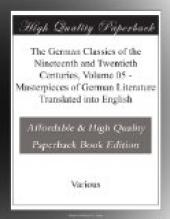 The German Classics of the Nineteenth and Twentieth Centuries, Volume 05