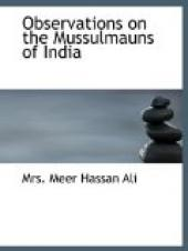 Observations on the Mussulmauns of India