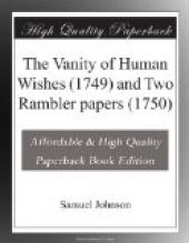 The Vanity of Human Wishes (1749) and Two Rambler papers (1750)