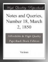 Notes and Queries, Number 18, March 2, 1850