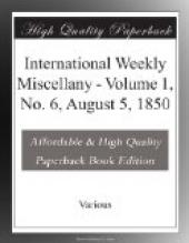 International Weekly Miscellany - Volume 1, No. 6, August 5, 1850