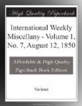 International Weekly Miscellany - Volume 1, No. 7, August 12, 1850
