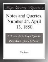 Notes and Queries, Number 24, April 13, 1850