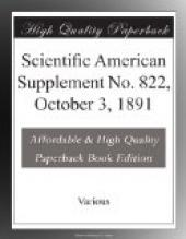 Scientific American Supplement No. 822, October 3, 1891