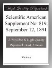 Scientific American Supplement No. 819, September 12, 1891