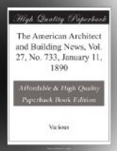 The American Architect and Building News, Vol. 27, No. 733, January 11, 1890