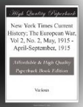New York Times Current History; The European War, Vol 2, No. 2, May, 1915