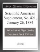 Scientific American Supplement, No. 421,  January 26, 1884
