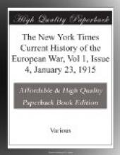 The New York Times Current History of the European War, Vol 1, Issue 4, January 23, 1915