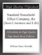 Standard Household-Effect Company, the (from Literature and Life)