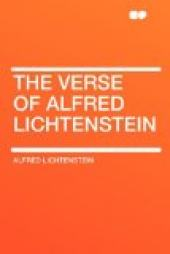 The Verse of Alfred Lichtenstein