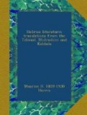 Hebraic Literature; Translations from the Talmud, Midrashim and