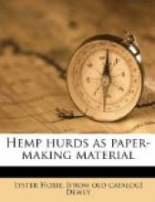 Hemp Hurds as Paper-Making Material