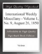 International Weekly Miscellany - Volume 1, No. 9, August 26, 1850