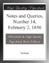 Notes and Queries, Number 14, February 2, 1850