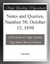 Notes and Queries, Number 50, October 12, 1850