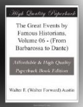 The Great Events by Famous Historians, Volume 06